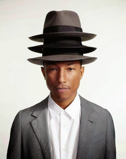 Pharrel - breaking the overheight restrictions to hats this year