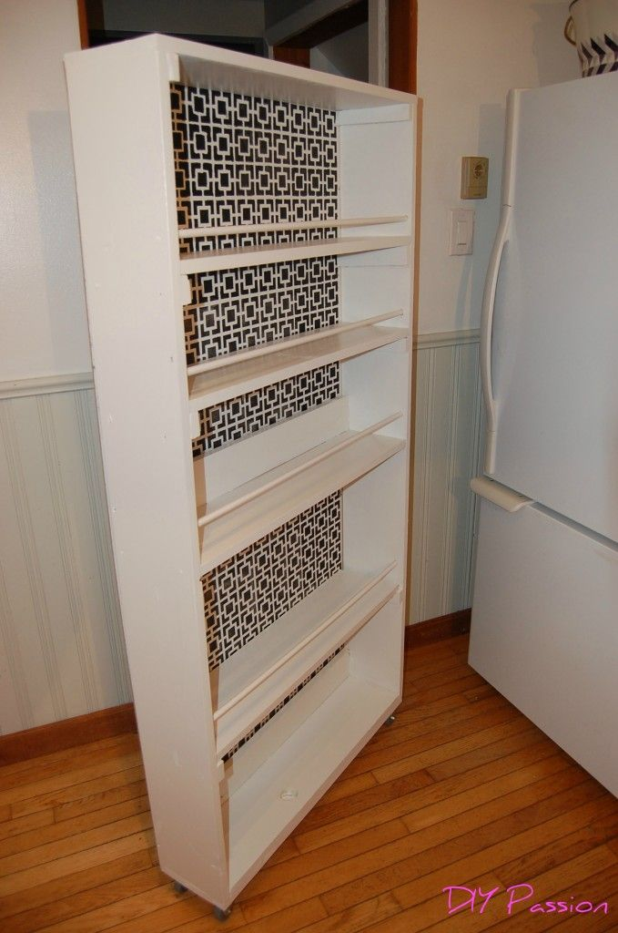 Detailed Instructions For A Diy Narrow Rolling Pantry