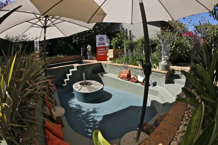 Get Creative with PPC Cement Competition winner (2011), Alan Raubenheimer of Durbanville, Cape Town, claimed the grand prize of a garden makeover valued at R50, 000. His submission was 'Boma in the pool'.
