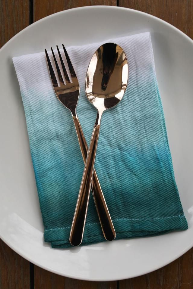 DIY Double Dip Dyed Napkins