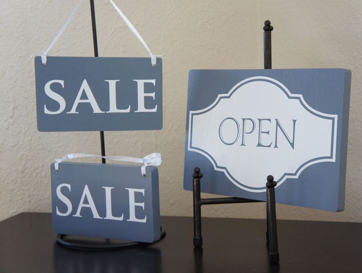 Set - Open Closed sign with 2 Sale signs Business Boutique Store Retail shop  #handmade