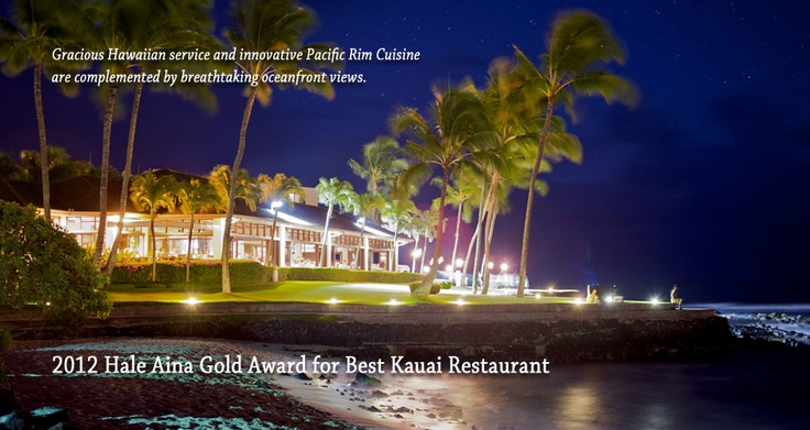 The Beach House Restaurant on Kauai is well-known to both residents and visitors for its spectacular oceanfront setting along with the island's sunny south shore.