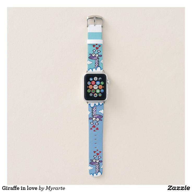 Giraffe in love. Producto disponible en tienda Zazzle. Accesorios, moda. Product available in Zazzle store. Fashion Accessories. Regalos, Gifts. #reloj #watch #bands