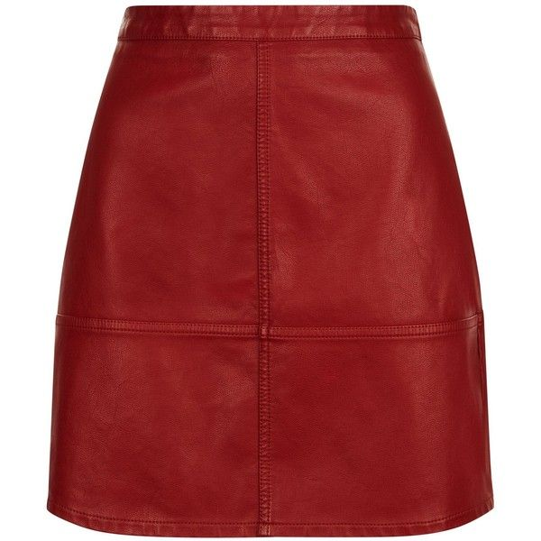 See this and similar mini skirts - Shop Dark Red Leather-Look Mini Skirt. Discover the latest trends at New Look.
