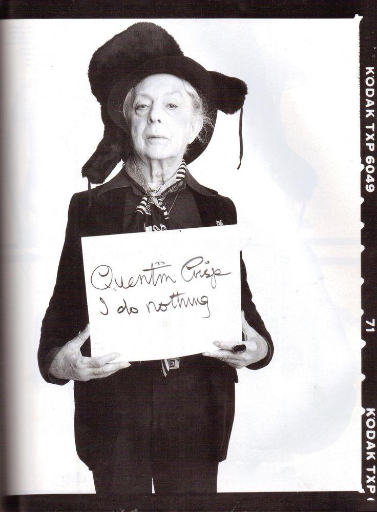 suicideblonde:  Quentin Crisp photographed by Steven Meisel for Vogue Italia, 1992
