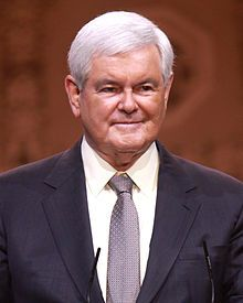 2017 NEWT GINGRICH:  Newton Leroy Gingrich (Newton Leroy McPherson) B: 6/17/1943 is an American politician & author from Georgia who served as the 50th Speaker of the US House of Representatives from 1995 to 1999. He represented Georgia's 6th Congressional District as a Republican from 1979 until his resignation in 1999. In 2012, Gingrich was a candidate for the Republican Party presidential nomination.  Wikipedia .