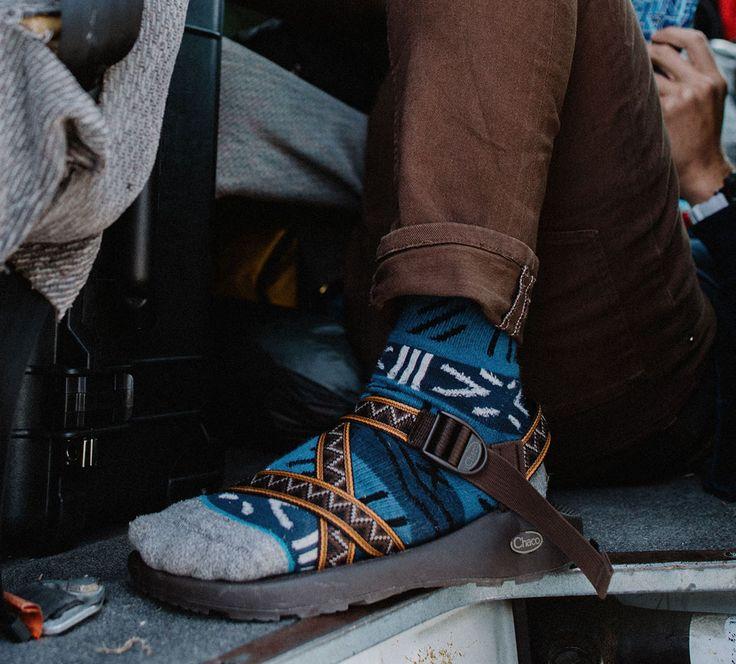 Men's fall Chaco style. #sockos