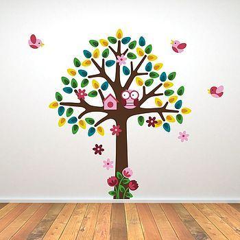 Girls Nursery Tree Wall Sticker