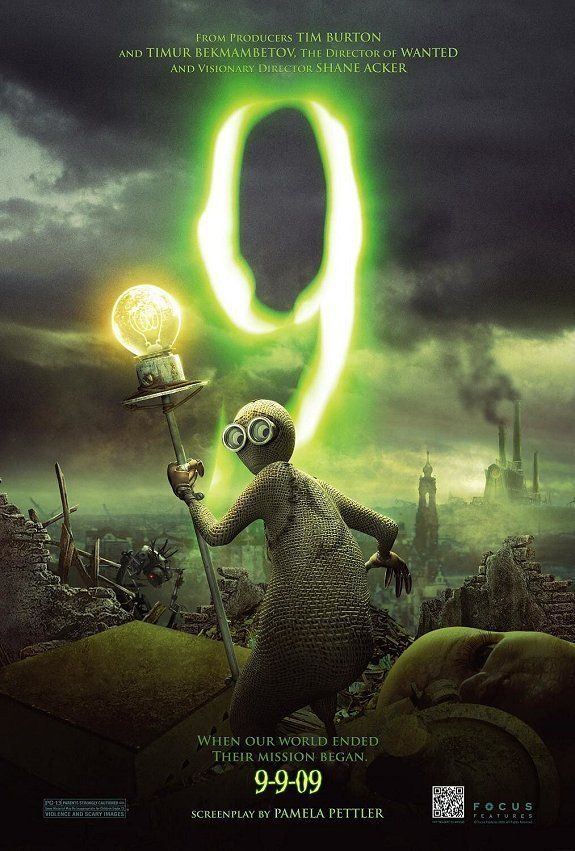 9 - a very wonderfully visual film. NOT for very young children. Voice acting is excellent, animation perfect, story engaging.9 - the animated scifi adventure film deserves to be seen. A rag doll awakens in a post-apocalyptic future and... produced by Tim Burton, starring f.e. Crispin Glover