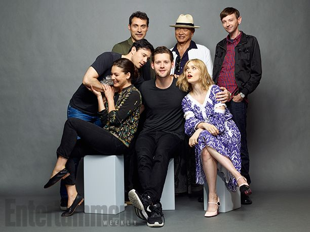 Rupert Evans, Rufus Sewell, Cary-Hiroyuki Tagawa, and DJ Qualls, Alexa Davalos, Luke Kleintank, and Bella Heathcote, 'The Man in the High Castle'