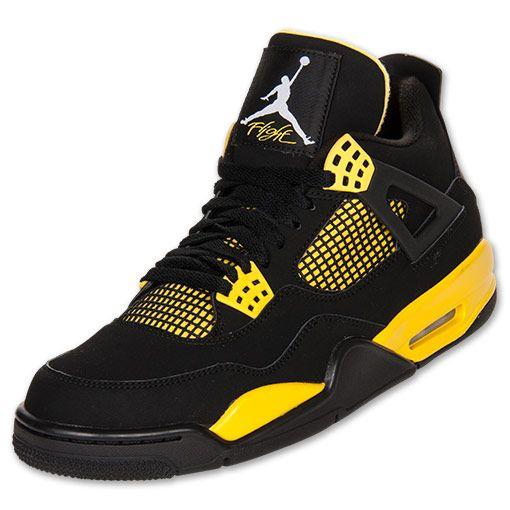 michael jordan shoes for boys | Men's Air Jordan Retro IV Basketball Shoes | FinishLine.com | Black ...