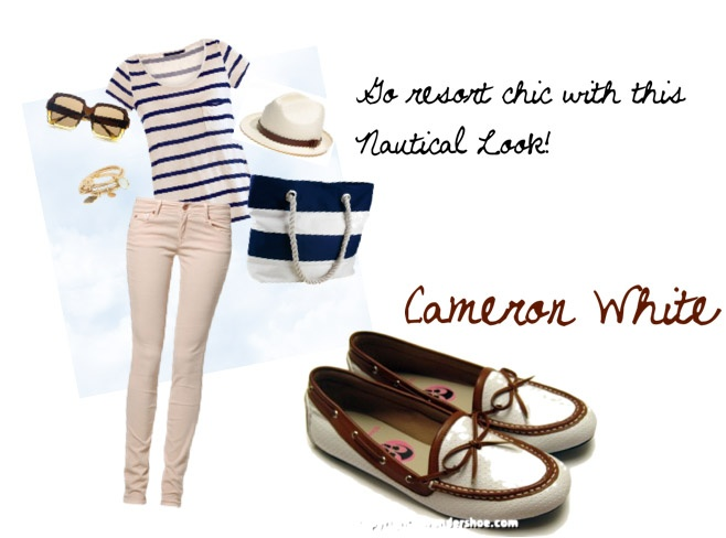 Go Nautical and resort-chic with Wondershoe's Cameron White!