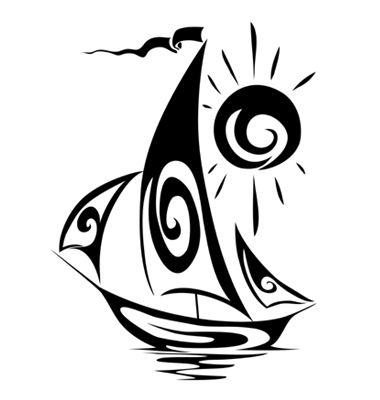 vector graphics sailboat                                                       …