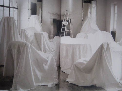 dust sheets draped over abandoned - Google Search