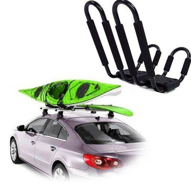 Rack Car Roof Kayak Board Paddle Ski Surf Storage Snowboard Roof Top Mounted J-Bar Rack. a.