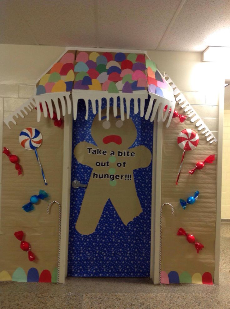 Gingerbread Man Door Decoration Ideas