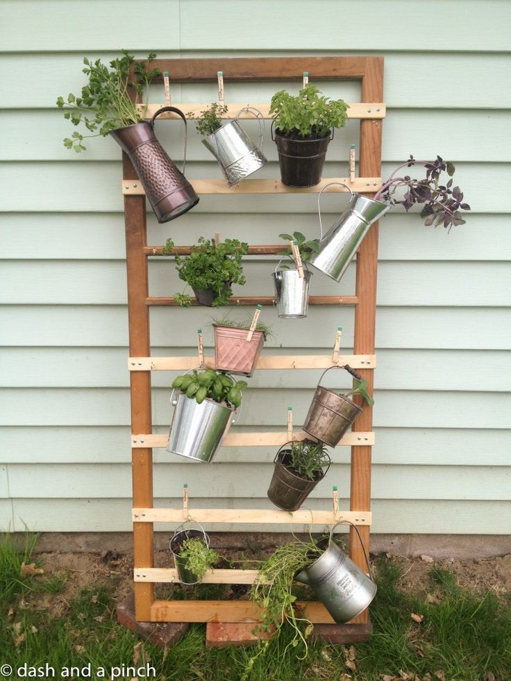 Backyard Hanging Herb Garden Via Sarah Of A Dash And A Pinch