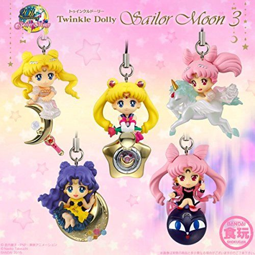 Sailor moon twinkledolly on sale at Etsy shop: https://www.etsy.com/listing/268035709/sailor-moon-twinkle-dolly-set-of-5-phone