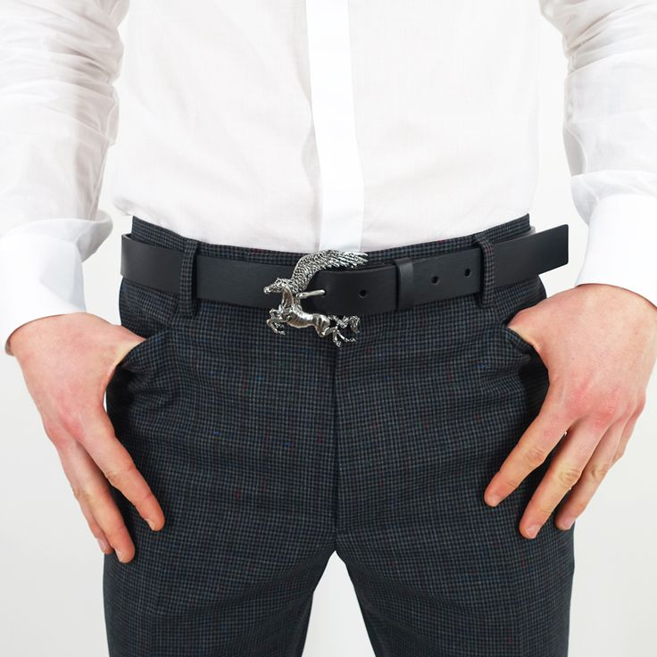 Lanvin Black Leather Belt with Pegasus Buckle worn with Lanvin White Slim-Fit Shirt with Band and Lanvin Grey Wool Blend Mini Check Trousers. #lanvin #lanvinparis #lanvinhomme #lanvins #lanvin125 #lanvinbelt #jeannelanvin #lucasossendrijver #alberelbaz #checked #checkedtrousers #whiteshirt #pegasus #mensstyle #belt #mensbelt #style #mensfashion #luxurygoods #zoofashions #zoolife