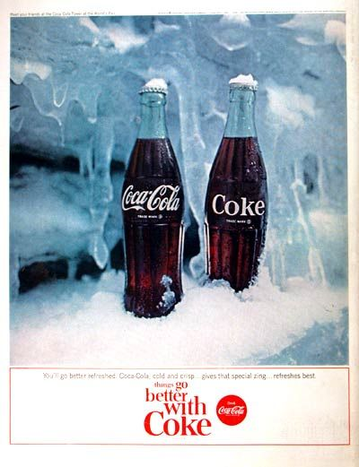 Coca cola vintage advertising a collection of food and for Coke can heater
