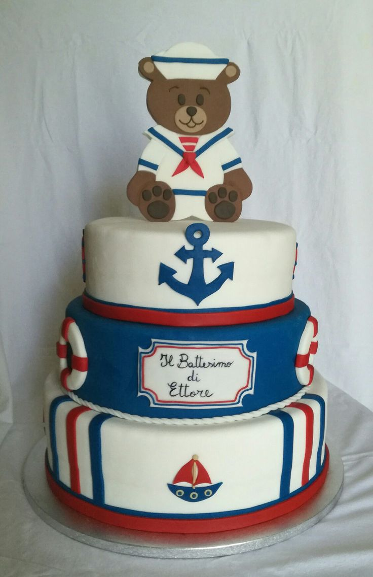 Torta battesimo marinaio