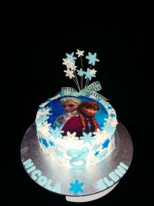 """Frozen"" theme cake"