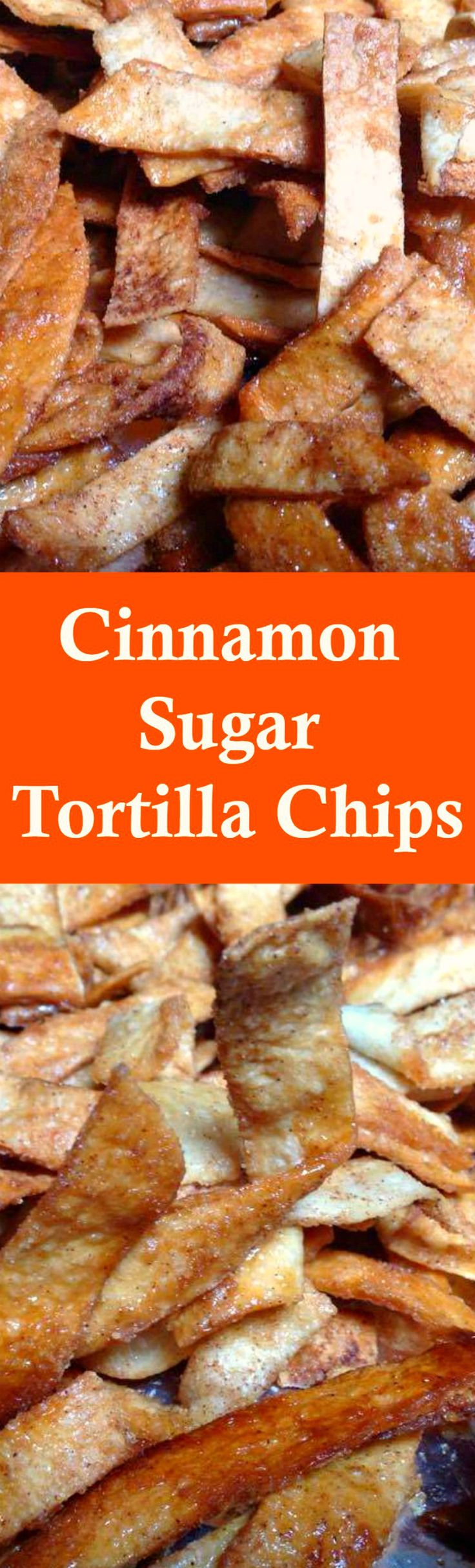 Cinnamon Sugar Tortilla Chips! These are a lovely sweet snack using very simple ingredients and incredibly easy to make. Perfect for parties and holidays.   Lovefoodies.com