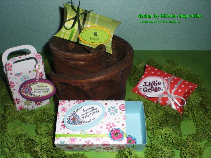 Geschenkverpackungen für die Liebsten und Freunde - gift for love and friends - slogan stamp from stampin up