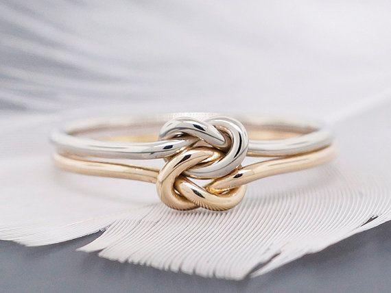14 k gold Ring Verlobungsring Versprechung Ring von TDNCreations