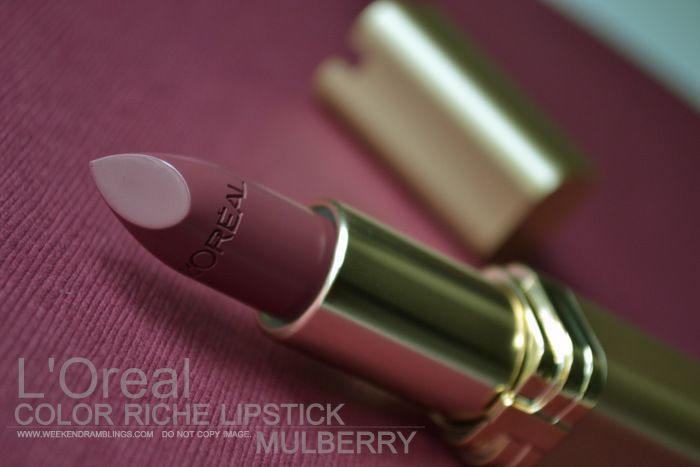 LOreal Color Riche Lipstick - Mulberry 710 - Review | I N ...