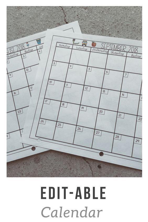 Usi Calendar.2019 Calendar Printable Teacher Resources Classroom Calendar