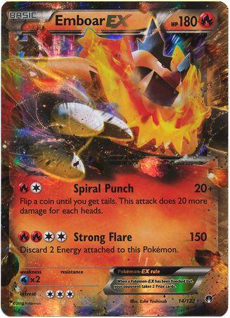 Emboar EX 14/122 Pokemon TCG: XY BREAKpoint, Holo Pokemon Card