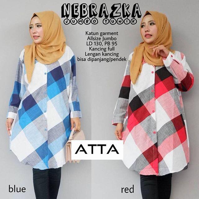 Nebrazka Tunik  Matt :  Katun Garment   Ld 130cm Pb 95cm  Kancing Full   Lengan Kancing   All Size Jumbo   Good Quality  Harga : 120.000    #khimarmurah #maximurah #gamis #gamismurah #syari #muslim #muslimahfashion #jilbabgrosir #jilbab #ootd #hijab #trend #like4like #l #hijabmurah #jeans #kulot