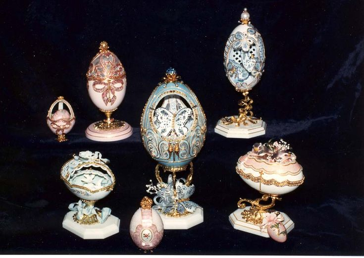 Faberge Eggs, creations by Leta Martin.