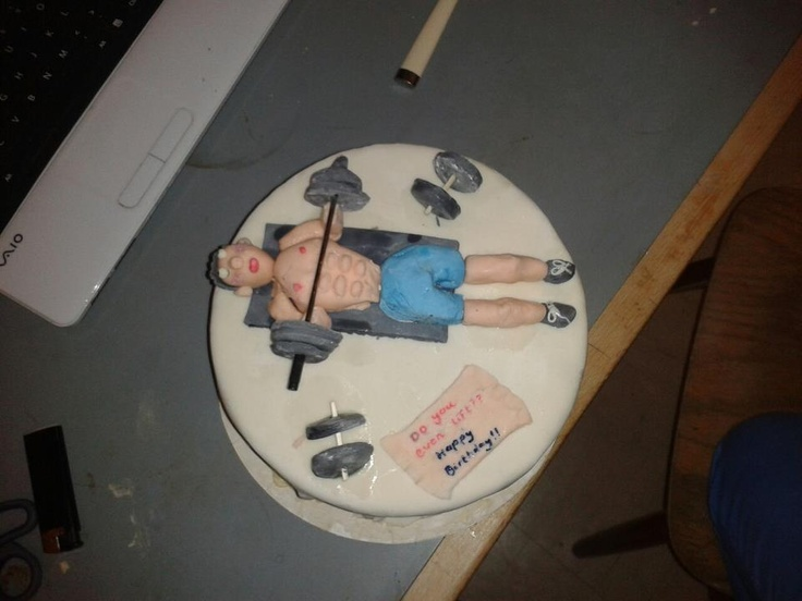 Weight Lifting Cake Decorations