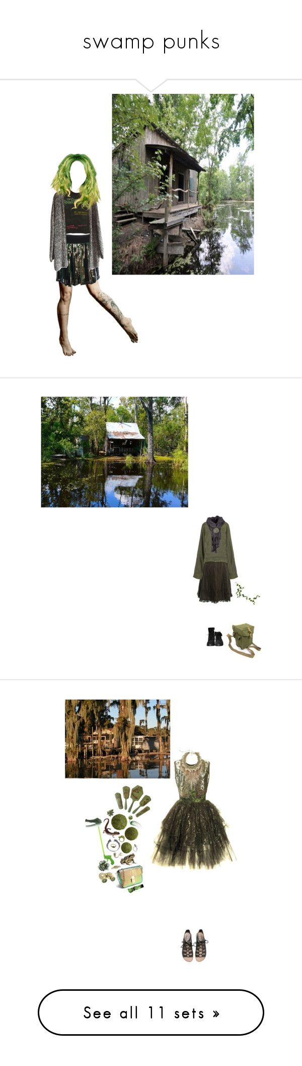 """swamp punks"" by mermaid-nielsine ❤ liked on Polyvore featuring swamp, BOSS Orange, Haider Ackermann, Zara, GAS Jeans, Cyan Design, Kieselstein-Cord, Lipstick Queen, Bernard Delettrez and Aesop"