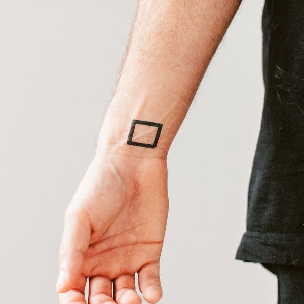 Square by Yoko Sakao Ohama is a simple, geometric Tattly. Wear them as is or use them in some creative hacks!