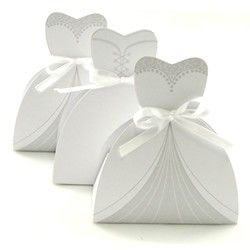 Wedding Dress Favor Boxes...