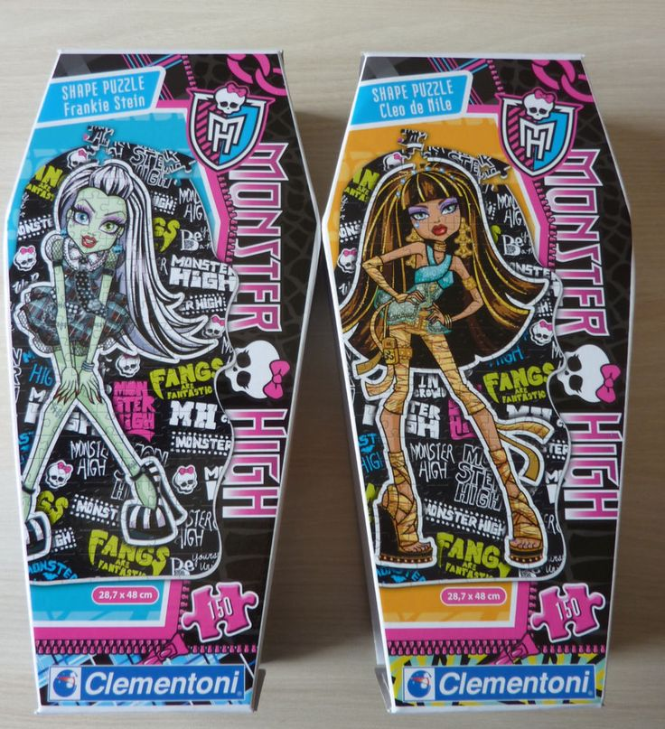 Lot de 2 Puzzle Monster High Frankie Stein et Cleo de Nile Clementoni neuf
