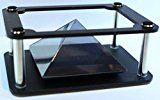 Premium 3D Hologram Video Projector Pyramid for Phones | New HD Pyramid | Works With All Smartphones | iPhone & Samsung Compatable | Hologram Technology | Solid Frame |