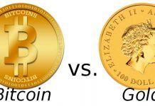 Bitcoin Vs Oro en 2017