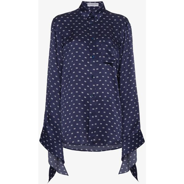 Balenciaga Bb Kimono Blouse ($1,715) ❤ liked on Polyvore featuring tops, blouses, blue, long sleeve kimono, holiday tops, evening blouses, blue kimono and special occasion blouses