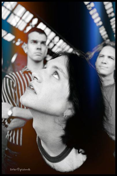 Rock group Placebo, @PLACEBOWORLD circa 1996. bassist #StefanOlsdal, singer #BrianMolko and drummer #RobertSchultzberg. Photo by #AndyWillsher