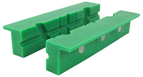 """ION TOOL Universal Multi-Groove Vise Jaws Synthetic Rubber Jaws 6/"""" Green"""