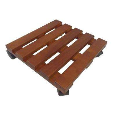 Planter Accessory 12 in. x 12 in. x 3.15 in. Wood Lattice Caddy