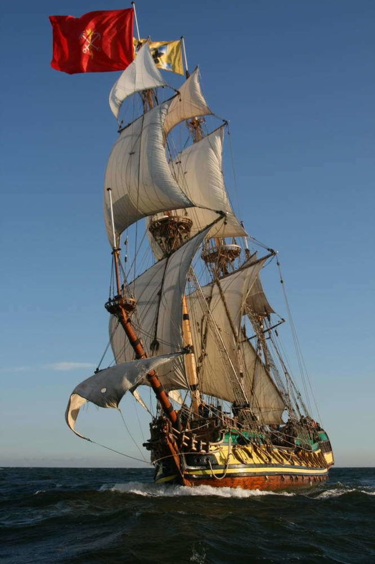Der Fregatte Shtandart, Dem Originalgetreuen Nachbau Des Rahseglers Von  1703.