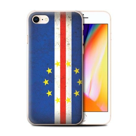 STUFF4 Phone Case / Cover for Apple iPhone 8 / Cape Verde Design / African Flag Collection