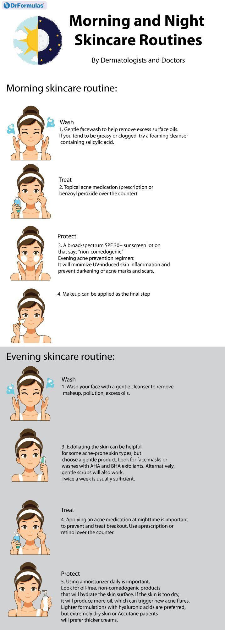 Die beste Hautpflege-Routine für Morgen und Nacht…