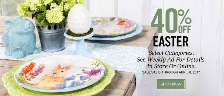 Hobby Lobby Arts & Crafts Stores 40% off Easter!