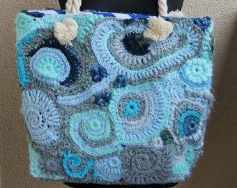 Flower bag freeform crochet big bag city bagweekend